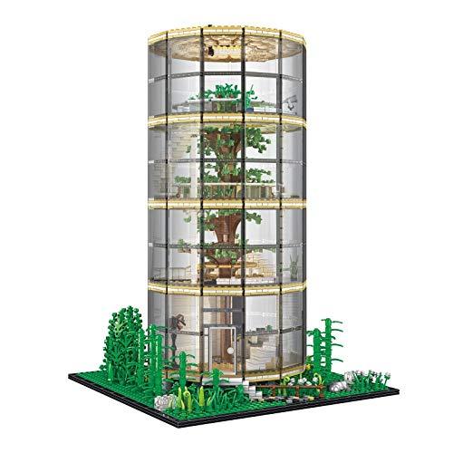WDYY Edificio de Arquitectura 3D, casa de árbol Transparente, Bosque, Villa, iluminación, Paisaje, Montaje, Modelo 3495 Uds, Bloques de construcción de partículas pequeñas DIY