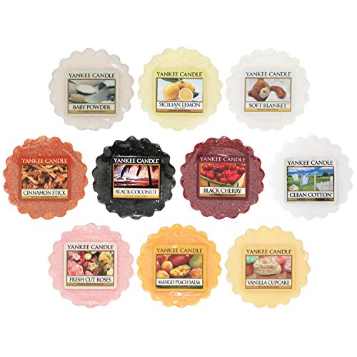 Yankee Candle Wax Melts Value Bundle, Mixed Popular Fragrances, Set of 10