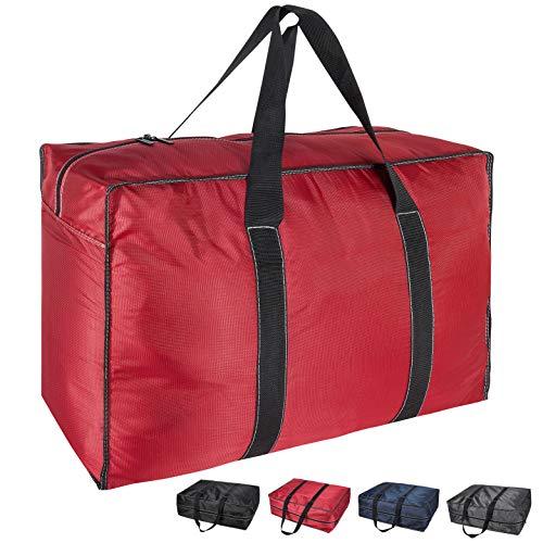 DOKEHOM 130L ispessito XL sottoletto, borsa portaoggetti con cerniera, a prova di umidità (rosso, XL)