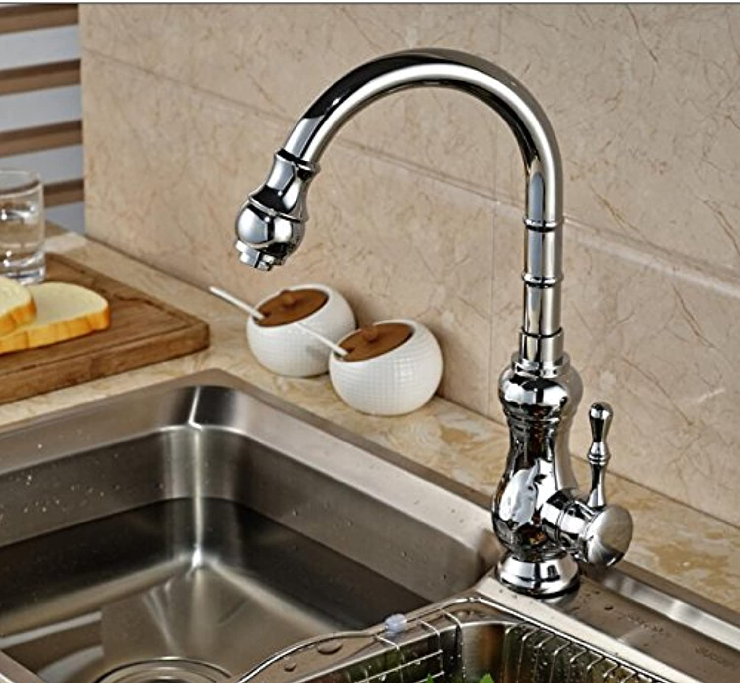 Tw Modern Chrome Finished Pull-out kitchen faucet Deck Mounted Mixer tap