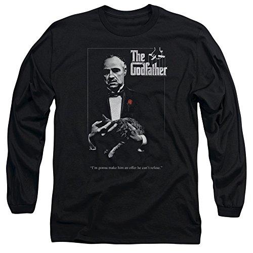 The Godfather - L'affiche de Hommes manches longues T-shirt, Large, Black