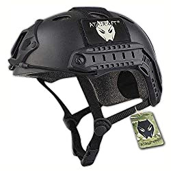 ATAirsoft PJ Type Tactical Fast Helmet Low Price Version Black
