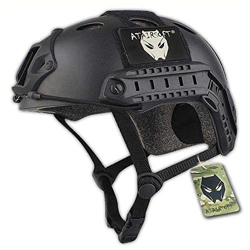 ATAIRSOFT PJ Type Tactical Paintball Airsoft Fast Helmet Black