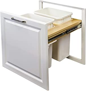 Hardware Resources CAN-TMDSC-18 Top Mount Soft Close Double Trash Can Unit, Wood