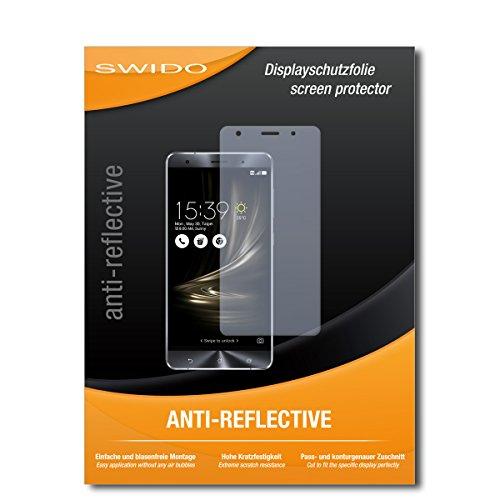 SWIDO Schutzfolie für Asus Zenfone 3 Deluxe [2 Stück] Anti-Reflex MATT Entspiegelnd, Hoher Festigkeitgrad, Schutz vor Kratzer/Bildschirmschutz, Bildschirmschutzfolie, Panzerglas-Folie