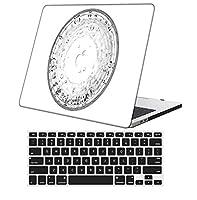 YixiuGG 切り抜きデザインプラスチック製ウルトラスリムライトハードケースキーボードカバー互換MacBook Pro 13インチ2016-2020リリース、タッチバーあり/なし、モデルA2159 / A1989 / A1706 / A1708、油絵 0459