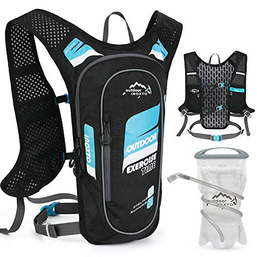 Flytise 5L Hydration Pack Backpack Super Lightweight Breathable Hydration Vest For Outdoors Running Cycling Climbing