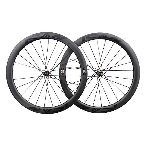 ICANIAN BD50 Carbon Laufradsatz Rennrad Disc 700C Drahtreifen Tubeless Ready 50mm Scheibenbremse Laufräder Centerlock 12x100/12x142mm 1678g
