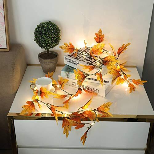 None/Brand 2M 20LED Xmas Thanks Giving Decor Leaves Halloween Fall Berry Party Maple Leaves String Light Christmas String Light Maple Q30