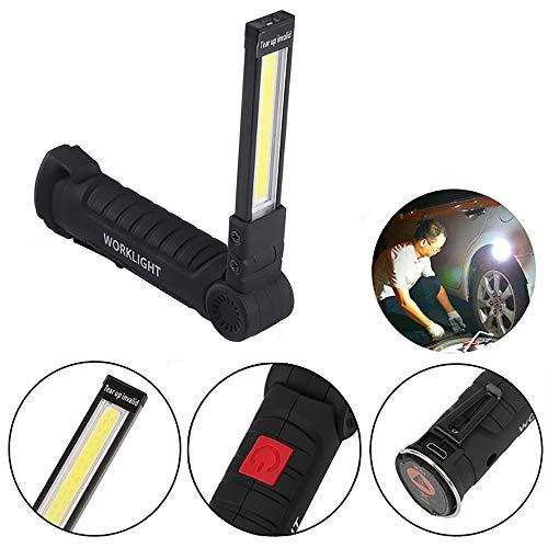 Luz de trabajo recargable USB Sunsbell, linterna LED portá