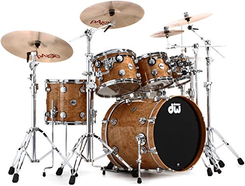 DW Collector S Series Lacquer Custom 5-Piece Cherry Shell Pack - Natural Lacquer