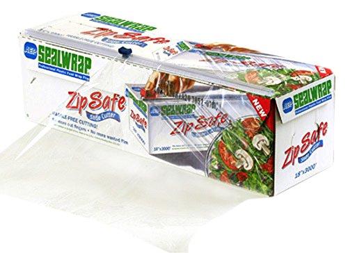 """SealWrap-30510700 Zipsafe Plastic Wrap, 18"""" Wide by 3000"""