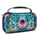 VORI Carrying Case for Nintendo Switch Lite 2019, Portable Protective Hard Shell with 8 Game Cartridges for Nintendo Switch Lite Console & Accessories Kit, Mandala Galaxy