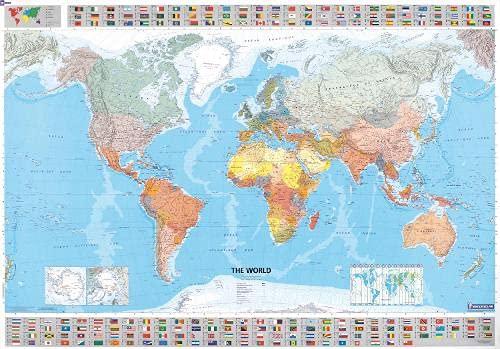 Il mondo scala 1:28.500.000. Ediz. plastificata ca. 100x144 cm [Lingua Inglese]