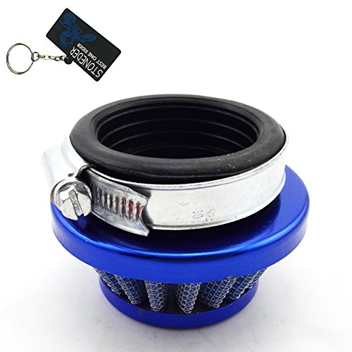 stoneder blau 44 mm Air Filter Reiniger für 2 Takt 47 cc 49 cc Motor Carb Vergaser Pocket Dirt Bike Mini Moto Quad Racing Kinder Atv