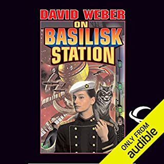On Basilisk Station     Honor Harrington, Book 1              By:                                                                                                                                 David Weber                               Narrated by:                                                                                                                                 Allyson Johnson                      Length: 15 hrs and 36 mins     323 ratings     Overall 4.2