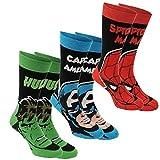 Marvel para hombre , 3 unidades calcetines de calidad macho de la marca calcetines de algodón elástico
