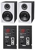 (2) Rockville DPM6W Dual Powered 6.5' 420 Watt Active Studio Monitor Speakers