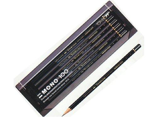 【ひらがな/カタカナ名入れ】【金箔】トンボ鉛筆 MONO高級鉛筆 モノ100 硬度:2B (MONO100-2B-G)