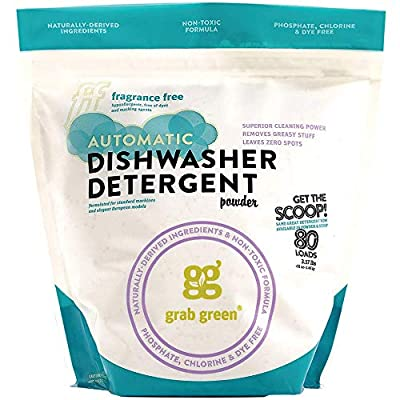 Grab Green Automatic Dishwashing Detergent Powder, 51 Ounce