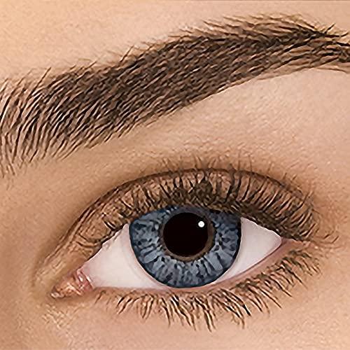 Sehr stark deckende natürliche Kontaktlinsen farbig,farbige Monatslinsen aus Silikon Hydrogel(HEMA),Weiche Kontaktlinsen mit großen Augenfarben Vergrößern Sie,2Stück,DIA14,ohne Stärke,Sterling Grey