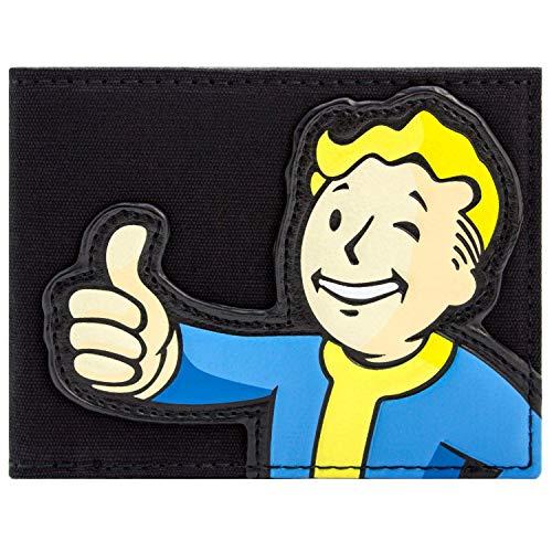 Bethesda Fallout 4 Stoff Vault Boy Schwarz Portemonnaie Geldbörse