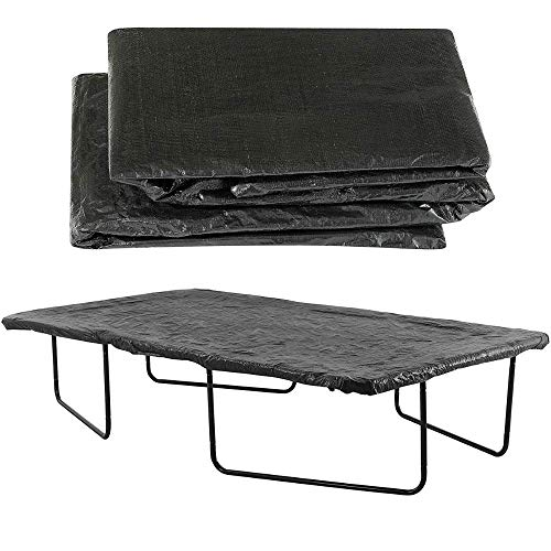 Upper Bounce 15 x 9 ft Trampoline Cover, Waterproof and UV Cover for Weather, Wind, Rain Protection of Rectangular Trampolines of All Brands and Models, Black