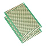 uxcell 7x9cm Single Sided Universal Printed Circuit Board for DIY Soldering Green Thickness 1.5mm 2pcs
