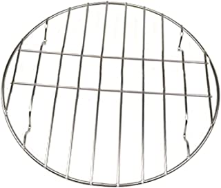 Baoblaze New BBQ Replacement Stainless Steel Round Cooking Grill for Travel Picnic Carbon Baking Net/Grills/Pan Grate - 25cm