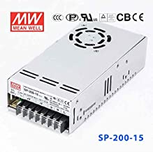 Meanwell SP-200-15 Power Supply - 200W 15V 13.4A - PFC