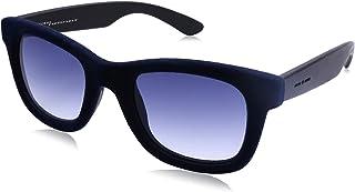 نظارة شمس لونين بعدسات شبه مربعة ازرق متدرج وشنبر قطيفة للنساء من ايطاليا انديبندنت