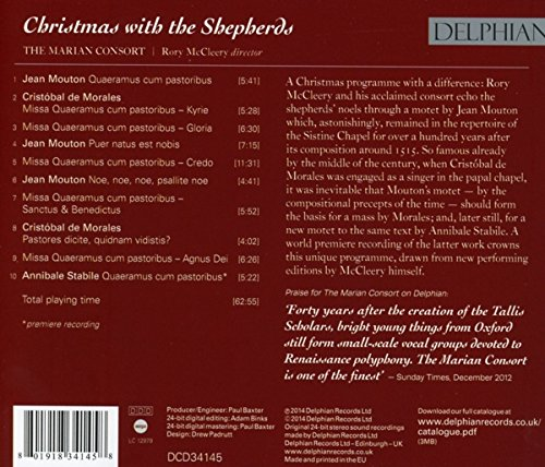 Christmas with the Shepherds: Morales, Mouton, Stabile