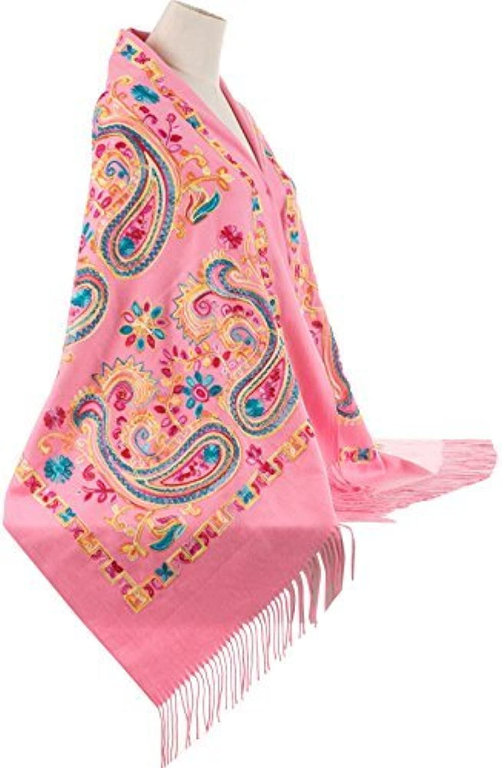 Beautiful Embroidered Pashmina Feel Wrap Scarf Scarves Stole Shawl