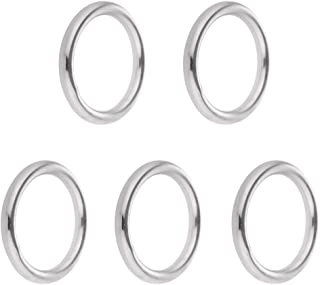 Perfk 5pcs/set Polished Universal 304 Steel Round O Rings Bracket 15/20/ 25/30/ 35mm - 4 x 25mm