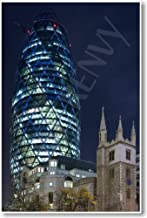 the gherkin london at night