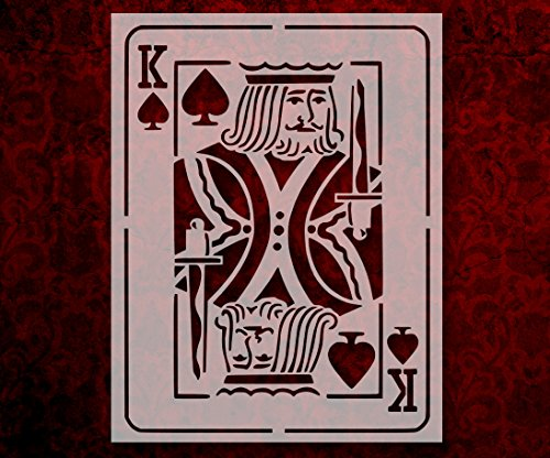 Playing Card King of Spades 8.5 x 11 Inches Stencil (13)