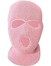 FITYLE Volwassen Winter Unisex 3-gaats Bivakmuts Warm Gebreide Gebreide Full Face Ski Mask Beanie