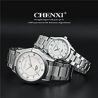QTMIAO 美しいCHEN XI時計 CHENXIクォーツ腕時計ビジネス鋼鉄腕時計カップル腕時計CX-021B (Color : 2)