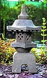 IDYL - Lanterna in pietra lavica Yukimi Gata, altezza 50 cm, resistente al gelo, decorazione da giardino asiatica, prodotto naturale massiccio, realizzata a mano, giardino d'inverno