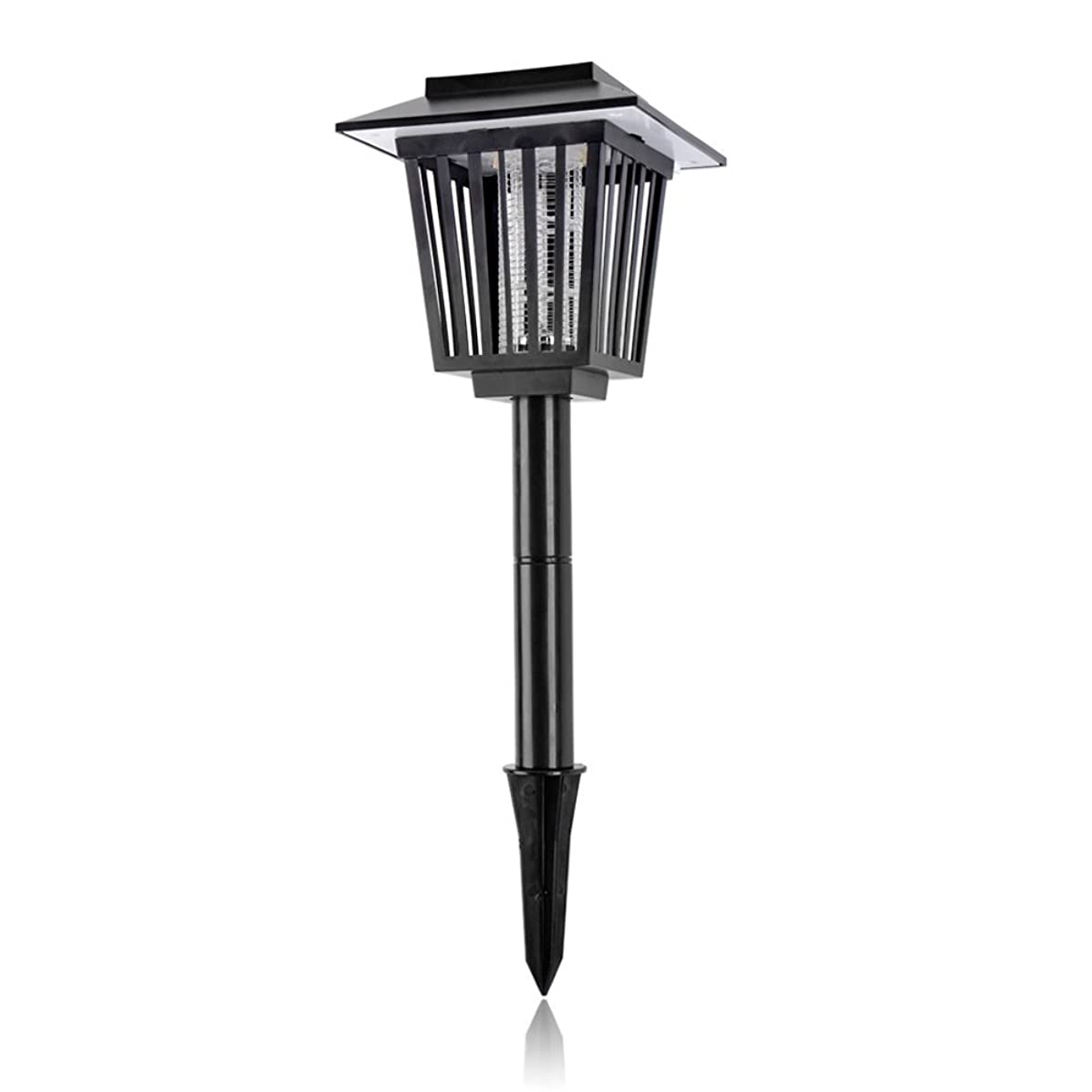 Solar Mosquito Zapper Outdoor Bug Killer Backyard Insect Killing Lamp Hanging or Stake in Ground Garden Patio Lawn Camping Cordless Solar Powered Pest Control Light Best Stinger Mosquitoes Moth Fly