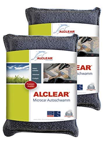 ALCLEAR 950014 autospons, ultra-microvezel, tegen beslagen ruiten, antraciet/blauw, 2 stuks