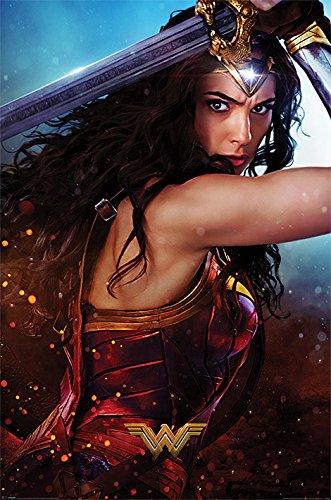 Wonder Woman Maxi póster de la Mujer Maravilla DC Comics, Multicolor.