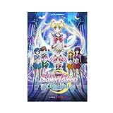BGYU Anime-Film Sailor Moon Leinwand-Poster, Wandkunst,