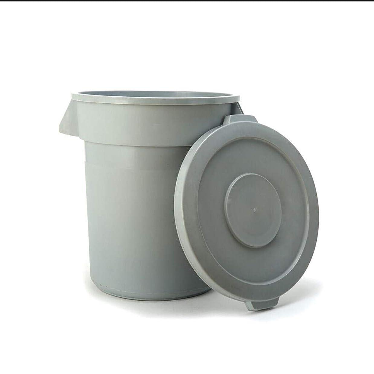 推論あいまいな吸う屋外ゴミ収納庫 大容量のプラスチック製ゴミ箱が付いているふた産業レストランの台所ゴミ水生輸送用バレル収納バケツ ごみ箱 (サイズ : 76L)