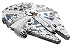 Recreate your favorite thrilling Rebel Alliance battle with the Star Wars Millennium Falcon from Star Wars: the last Jedi! The kit includes 19 easy snap together pieces that provides maximum detail and durability. No tools, paint or glue needed for a...