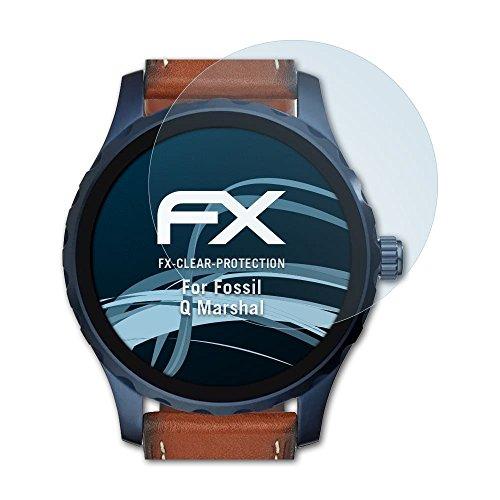 atFoliX Schutzfolie kompatibel mit Fossil Q Marshal Folie, ultraklare FX Bildschirmschutzfolie (3X)