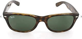 Ray-Ban RB2132 New Wayfarer Polarized Sunglasses, Tortoise/Polarized Green, 55 mm