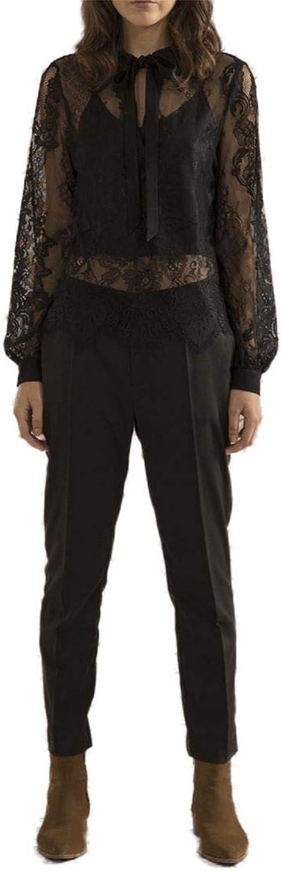 Sack's  Women's Ling Polo Lace Blouse  Black