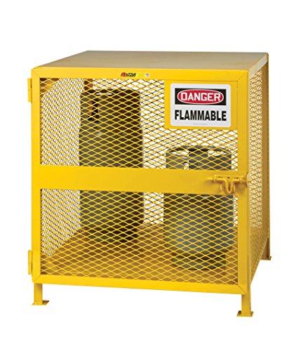 Little Giant GSU-36W-40H Yellow Steel Upright Gas Cylinder Storage Unit Locker, 40