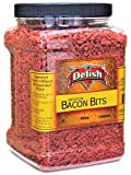 Imitation Bacon Bits by Its Delish, 30 Oz Jumbo Reusable Container | Kosher Parve Vegan for Salad...